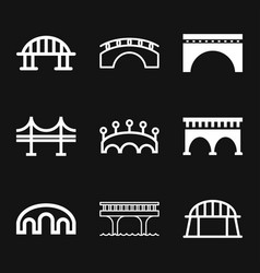 Bridge icon in flat style road business concept vector