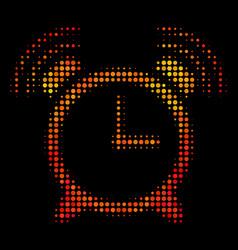 Bright pixel buzzer icon vector