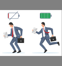 businessman and life energy vector image
