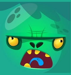 Cartoon monster zombie face vector