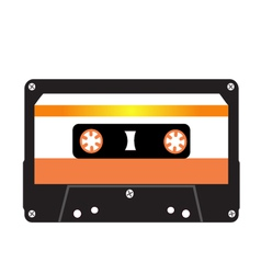 Cassette tape isolated on a white background vector