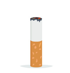 Cigarette butt flat icon vector