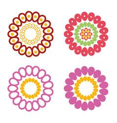 cinco de mayo set flowers decoratives vector image