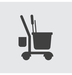Cleaning tool icon icon vector image