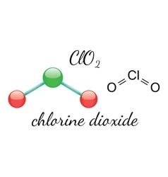 ClO2 chlorine dioxide molecule vector