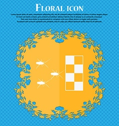 cockroach races icon Floral flat design on a blue vector image