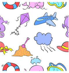collection stock of element holiday doodle vector image