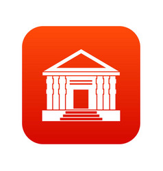 colonnade icon digital red vector image
