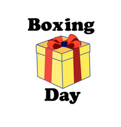 concept for boxing day on isolated background vector image