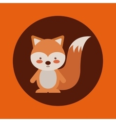 cute animal fall vector image