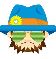 Cute cartoon hippie vector