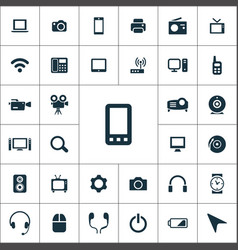 device icons universal set for web and ui vector image