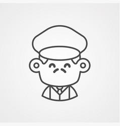driver icon sign symbol vector image