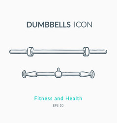 dumbbell icons on white background vector image