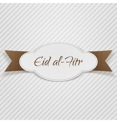Eid al-Fitr decorative paper Tag vector
