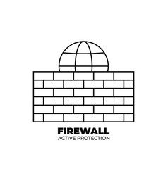 firewall icon design isolated on white background vector image
