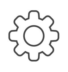 Gear thin line icon vector