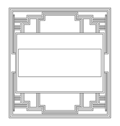 grayscale pattern with art deco frame vector image vector image
