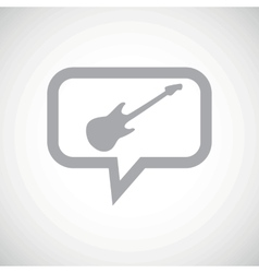 Guitar grey message icon vector