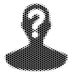 Halftone dot unknown person icon vector