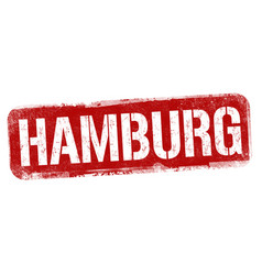 hamburg sign or stamp vector image