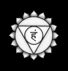 Hand drawn chakra vishuddha vector