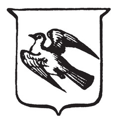Heraldry volant have depicts a bird in flight vector