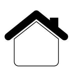 House silhouette isolated icon vector