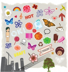 Icons symbols vector