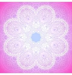 Indian ornament mandala in pink vector