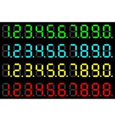 LED digits vector image