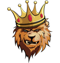 lion king with crown vector image