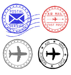 mail stamps for envelopes vector image