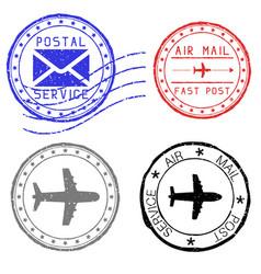 Mail stamps for envelopes vector