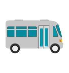 Microbus transport vehicle vector