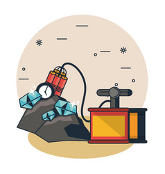 mining cave cartoons vector image