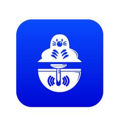 Mole icon blue vector