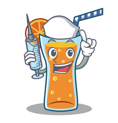 nurse cocktail character cartoon style vector image