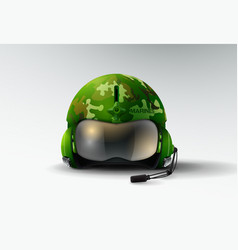Pilot jet marines helmet aviator vector