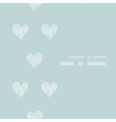 Pink textile hearts vertical frame seamless vector image