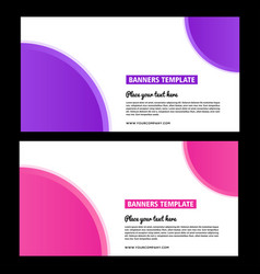 Purple banner design abstract poster set web b vector