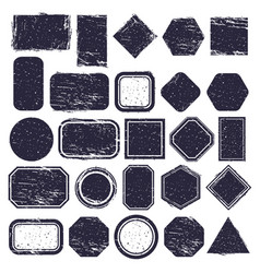 rubber stamps grunge texture labels retro rubber vector image