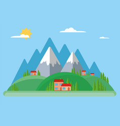 rural and urban summer landscape vector image