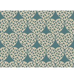 Seamless heart lace vector