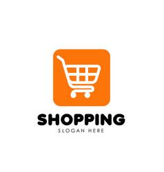 Shopping cart logo icon design trolley icon design vector