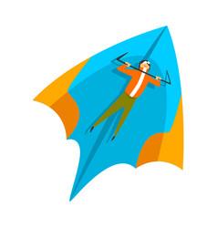 skydiver flying on a hang glider skydiving vector image