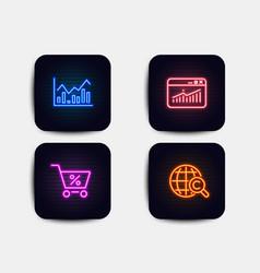 Special offer infochart and website statistics vector