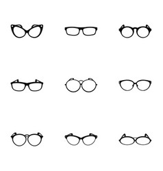 Spectacle icons set simple style vector