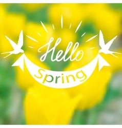 Spring blurry background vector image