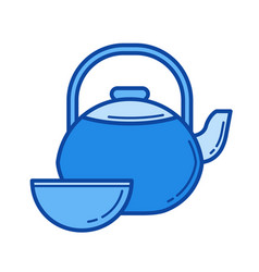 tea ceremony line icon vector image